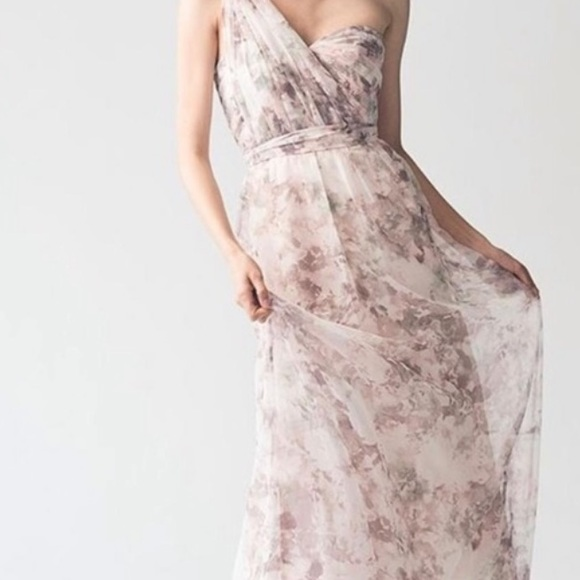 JENNY YOO COLLECTION NYLA GOWN MAXI DRESS sz 4 AS IS
